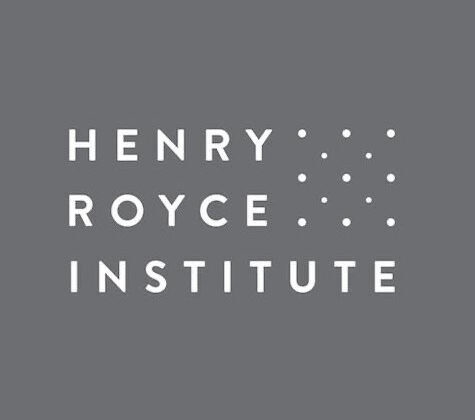 white and grey Henry Royce Institute Logo