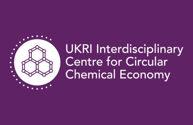 white and purple CircularChem logo