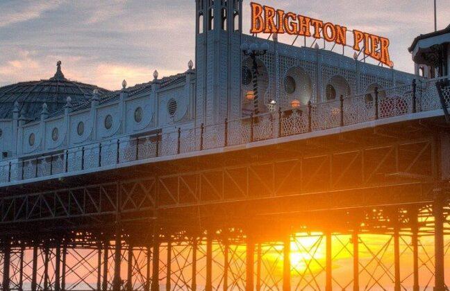 Sunset shot of Brighton Pier